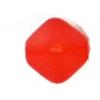 Glass Bead Lanterns 6mm Brick Red Matt Strung
